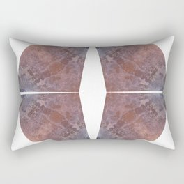 Rust and Concrete Rectangular Pillow