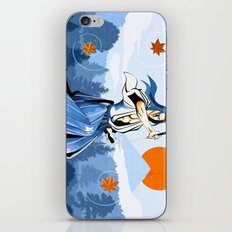 Fall maple leafs and Ukyo iPhone & iPod Skin