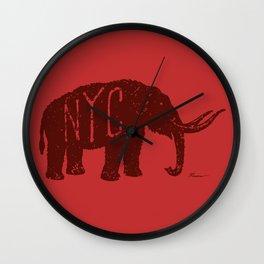 """Mastodon NYC - """"Early Settler"""" Wall Clock"""