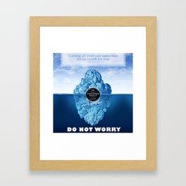 1 Peter 5:7 Worry Framed Art Print