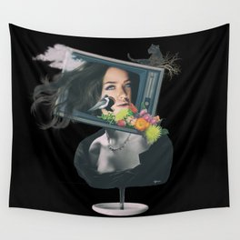 TV woman Wall Tapestry