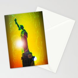 Statue of liberty - Freiheitsstatue New York 10 Stationery Cards
