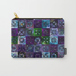Cool Colors Galaxy Quilt Pattern Carry-All Pouch