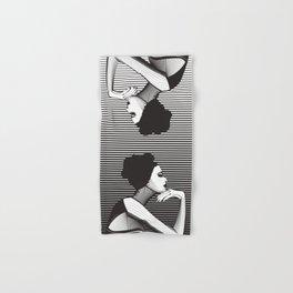 Black and White Female Hand & Bath Towel