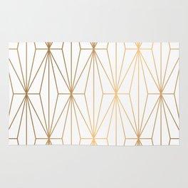 Gold Geometric Pattern Illustration Rug