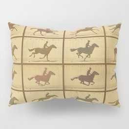 Time Lapse Motion Study Horse muted Pillow Sham