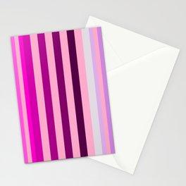 pink and blue stripe modern pattern Stationery Cards