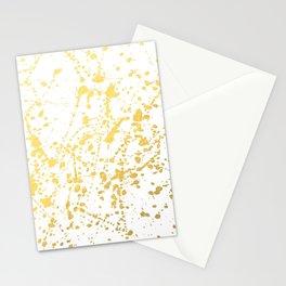 Splat White Gold Stationery Cards