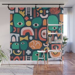 Abstract Playground Wall Mural