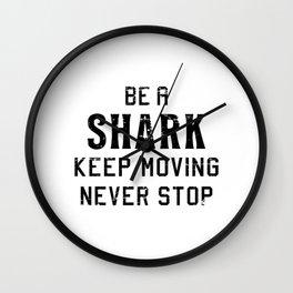 Sharks Shark Fin Fish Ocean Sea Cool Funny Gift Wall Clock