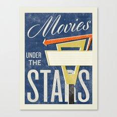 Movies Under the Stars Canvas Print
