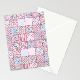 Pretty Pastel Patchwork Stationery Cards