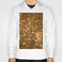 gold glitter Hoodies featuring Gold Glitter 2484 by Cecilie Karoline