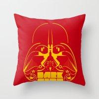dark side Throw Pillows featuring Dark Side by francescoporoli