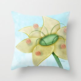 Pollen Flower Throw Pillow