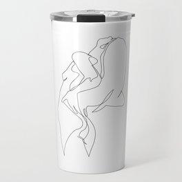 One line nude - e 5 Travel Mug