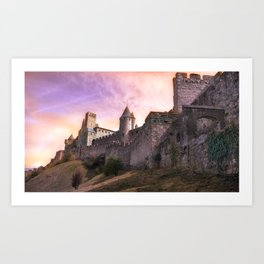 Historically Charged Carcassonne Castle France Ultra HD Art Print