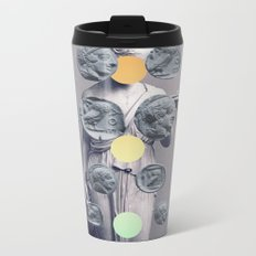 Statue With A Dot Gradient 1 Metal Travel Mug