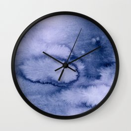 inkblot pastels 1 Wall Clock