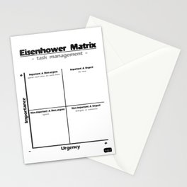 Task Management With the Eisenhower Matrix Stationery Cards
