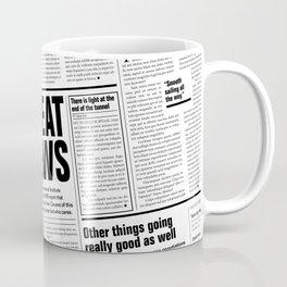 The Good Times Vol. 1, No. 1 / Newspaper with only good news Coffee Mug