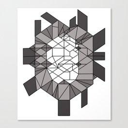 Dark matter: sculptural template (jon nobile) middle section Canvas Print