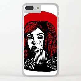Blood Red Clear iPhone Case