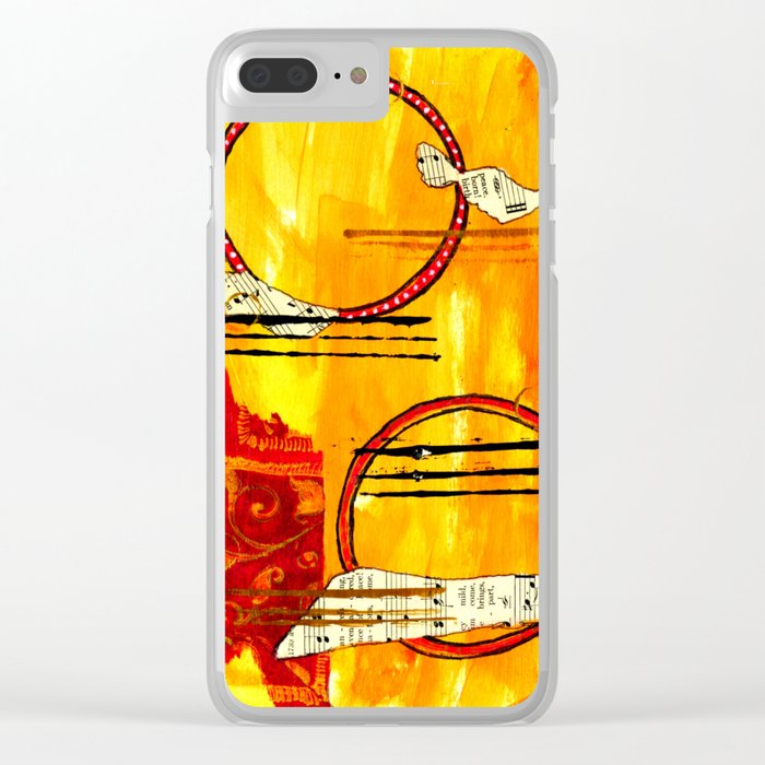 Music of Orbs Clear iPhone Case