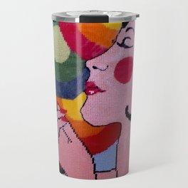 Pop Art lady by Lika Ramati Travel Mug