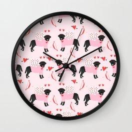 Labrador black lab valentines day love bug must have labrador retriever dog breed Wall Clock