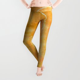 Will it Go Round in Circles, Abstract Art Painting Leggings
