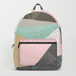 Stylish gold triangles geometric design Backpack