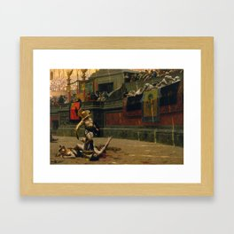 With A Turned Thumb - Pollice Verso Framed Art Print