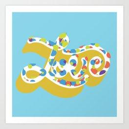 Love (dots) Art Print
