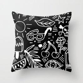 Black & White Minimal Pattern Throw Pillow