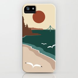 Minimalist Michigan Vintage Sunset iPhone Case