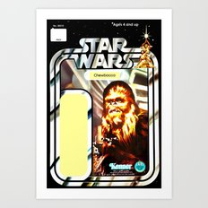 Chewbacca Vintage Action Figure Card Art Print