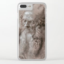 Albrecht Durer - Head Of An Old Man Clear iPhone Case