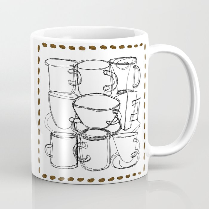 Coffee Beans and Mugs Coffee Mug