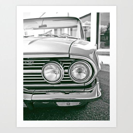 Chevy headlights Art Print