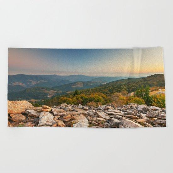 Spruce Knob Mountain Sunset Beach Towel