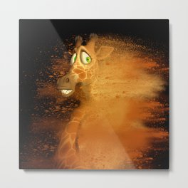 The speed giraffe Metal Print
