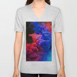 Colorful Smoke Screen Unisex V-Neck