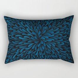 Deep Blue Shamanita Rectangular Pillow