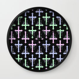 Crosses with Beads Wall Clock