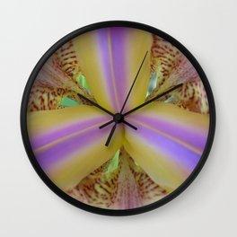 Purple and Yellow Iris Center Wall Clock