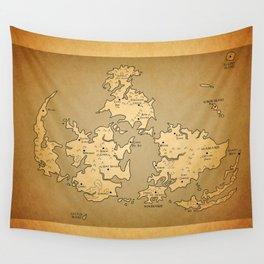 Gaia Midgar Final Fantasy VII Map Wall Tapestry