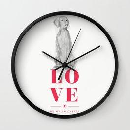 BE MINE VALENWEIM Wall Clock