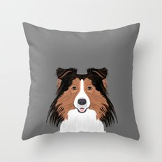 Jordan - Shetland Sheep Dog gifts for sheltie owners and dog people gift ideas perfect dog gifts Throw Pillow