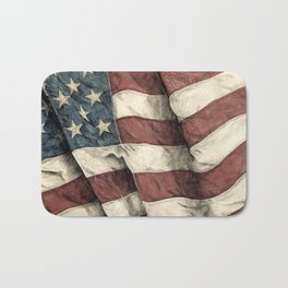 Stars 'n' Stripes - Antiqued Bath Mat